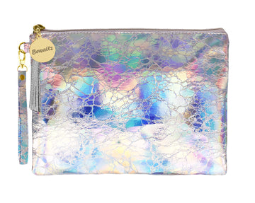 Holographic Makeup Pouch Small Silver - Bewaltz