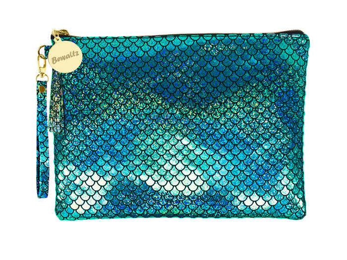 Mermaid Makeup Pouch Small Green