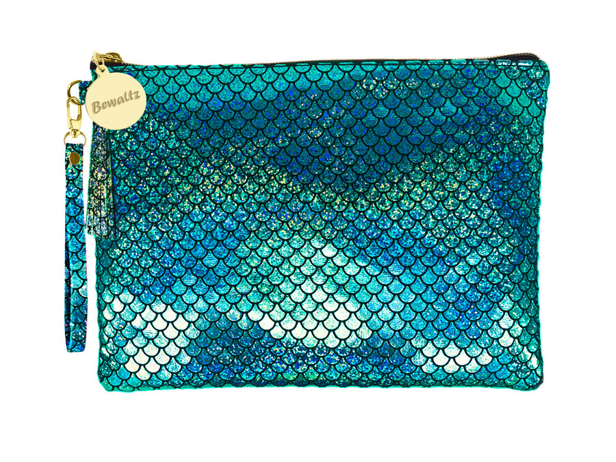 Mermaid Makeup Pouch Small Green - Bewaltz