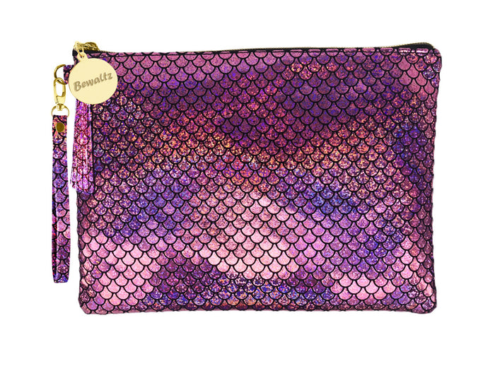 Mermaid Makeup Small Pouch - Pink - Bewaltz