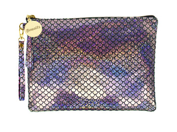 Mermaid Makeup Pouch Small Silver - Bewaltz