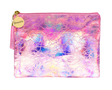 Holographic Makeup Large Pouch Pink - Bewaltz