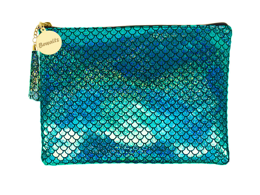 Mermaid Makeup Large Pouch Green - Bewaltz