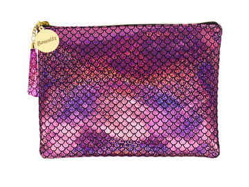 Mermaid Makeup Large Pouch Pink - Bewaltz