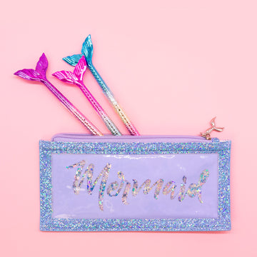 Mermaid Pencil Pouch & Pen Set - Bewaltz