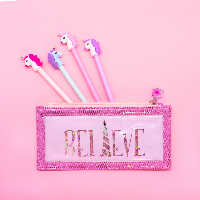 Unicorn Pencil Pouch & Pen Set - Bewaltz