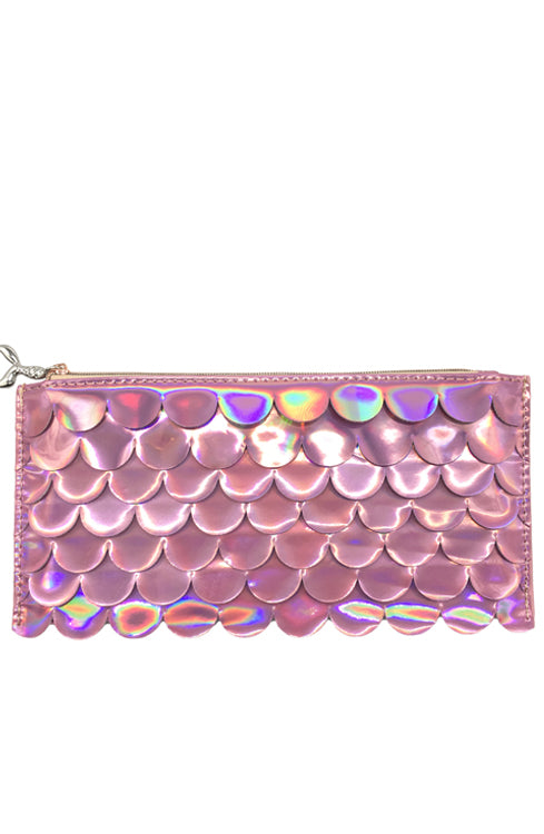 Holographic Scales Pencil Pouch - Pink - Bewaltz
