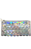 Holographic Scales Pencil Pouch - Silver