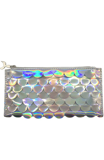 Holographic Scales Pencil Pouch - Silver - Bewaltz