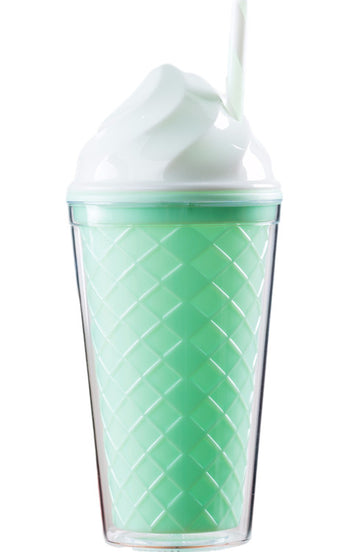 Ice Cream Tumbler - Green Cone - Bewaltz