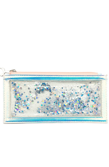 Floating Glitter Holographic Pencil Pouch - Bewaltz