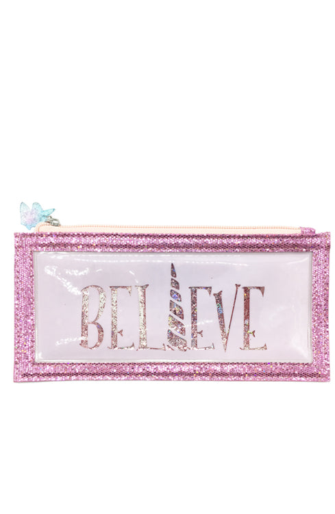 Floating Glitter Unicorn Pencil Pouch - Bewaltz