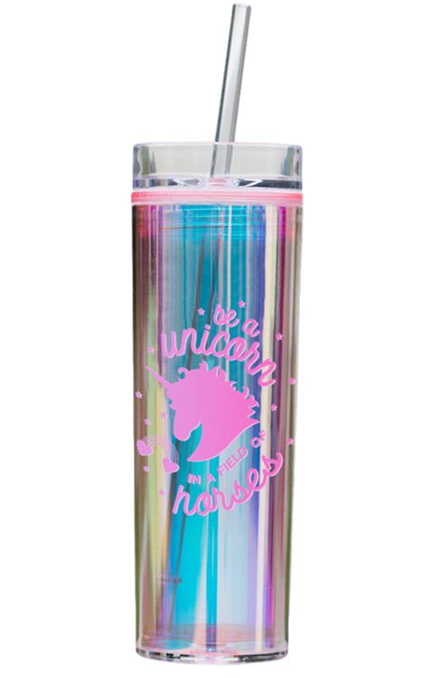 Holographic Unicorn Tumbler - Pink Be A Unicorn - Bewaltz