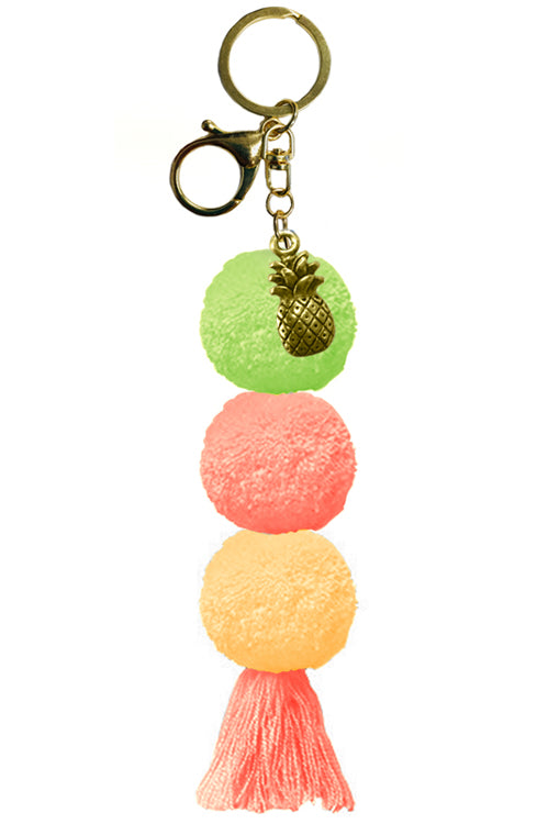 Portofino Pom Pom Charm Orange