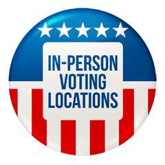 In-Person-Voting Locations in Massachusetts