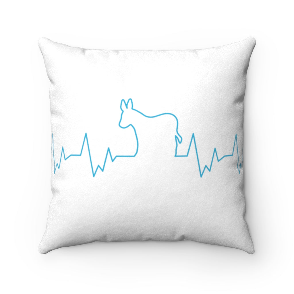 Democrats Have Heart Square Pillow from Balance of Power