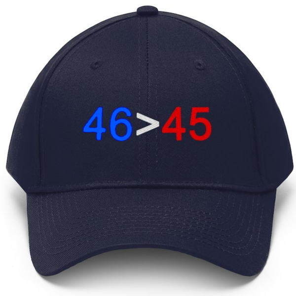 46 IS GREATER THAN 45 Cap