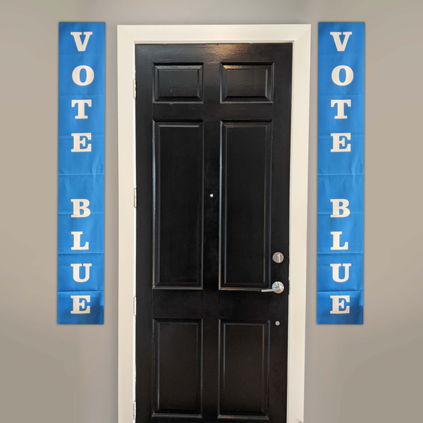 VOTE BLUE Hanging Door Banners from Balance of Power
