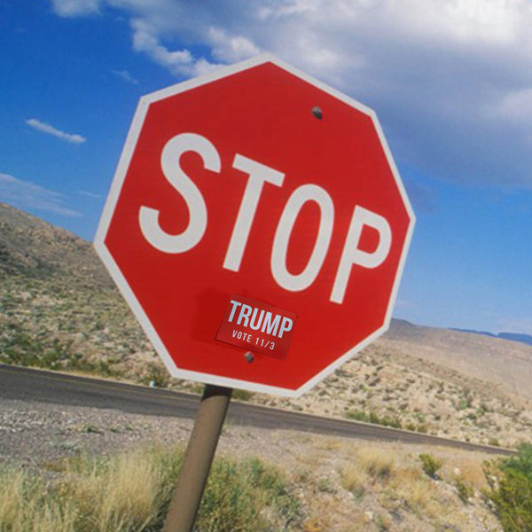 STOP Trump Stickers from Balance of Power