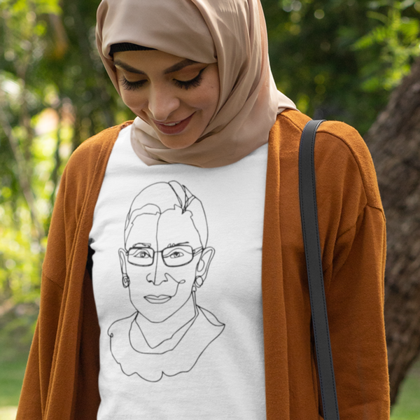 RBG in a Single Line Drawing - Shirt