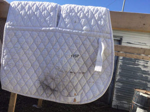 SADDLE PAD - DRESSAGE WHITE