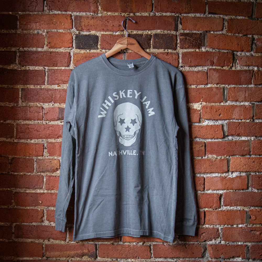 Light Grey Skull Long Sleeve