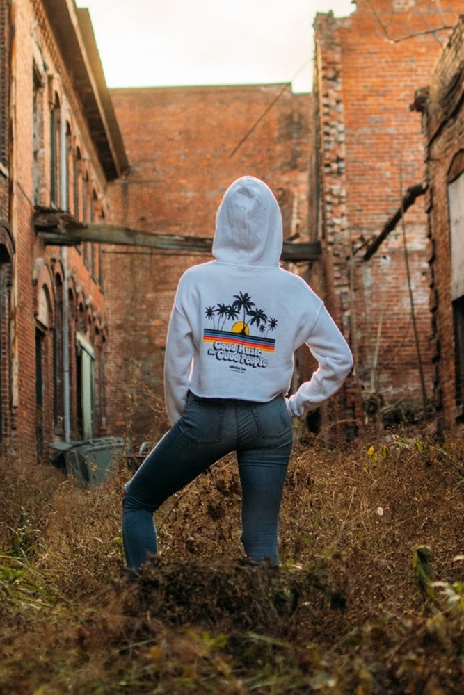 Good Music Good People Crop Hoodie