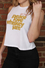 White Peace Love Tank