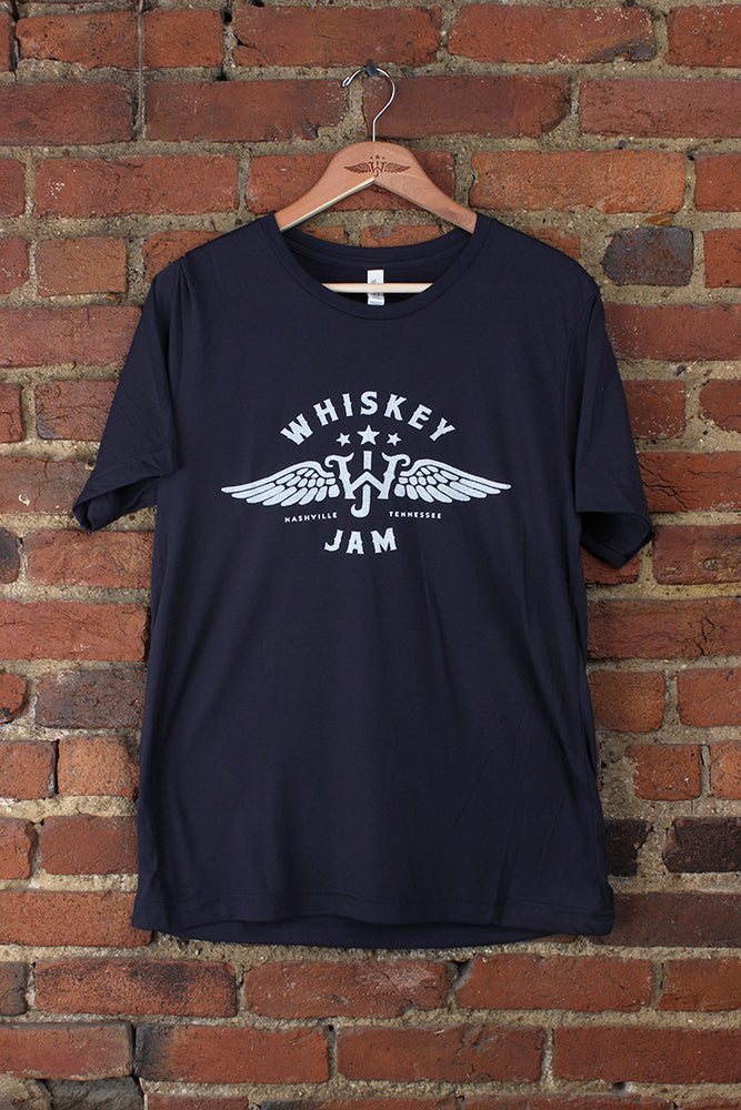 Navy Wings + Stars Tee