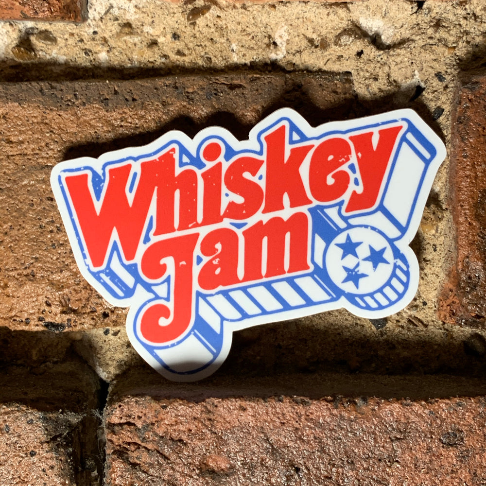 Whiskey Jam Woodcut Sticker
