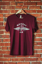Maroon Wings + Stars Tee
