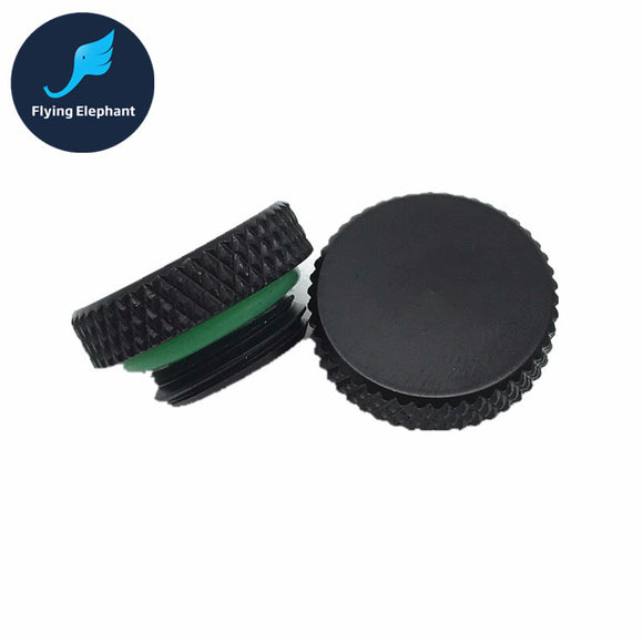 1 Piece SZ G1/4 Smooth Waterstop End Cap for Water Cooling Sealing Up black/Silver - Hardware Sense