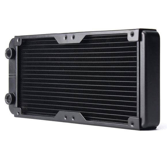 240MM Aluminum Computer Radiator Water Cooling Radiator Water Cooler 18 Tubes Heat Exchanger CPU Heat Sink For Laptop Desktop - Hardware Sense