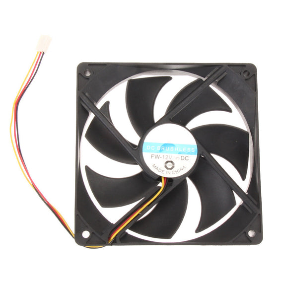 120mm 120x25mm 12V 3Pin DC Brushless PC Computer Case Cooler Cooling Fan - Hardware Sense