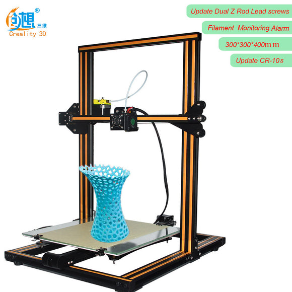 2017 Newest update Creality CR-10s 3D Printer DIY KIT Upgrade Dual Z Rod Screws, Filament Monitoring Alarm Protection Large Size - Hardware Sense