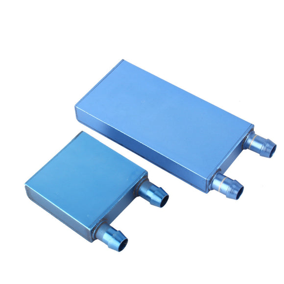 1Pcs 40*80/40*12mm Aluminium Water Cooling Waterblock Liquid Cooler Heatsink Block For CPU Dark Blue or Light Blue Send Random - Hardware Sense