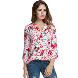 Meaneor Women Floral Print Blouse