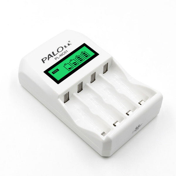 PALO Battery Charger C907W 4 Slots LCD Display Intelligent Charger