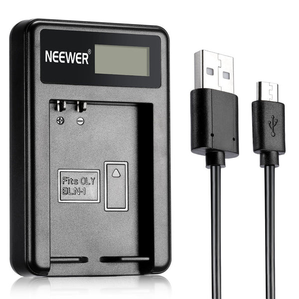 Neewer NW-BLN1 Portable USB Battery Charger For BLN-1 Camera