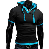 Fashion Men'S Hooded Collar Sling Tops & Tees