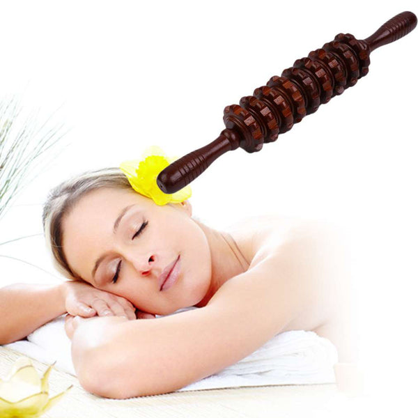 Multifunctional Wooden Abdominal Massage Roller