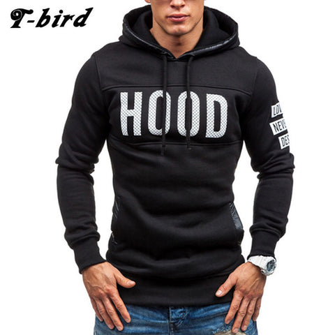 Brand Men Chest Letter Printing Hoody
