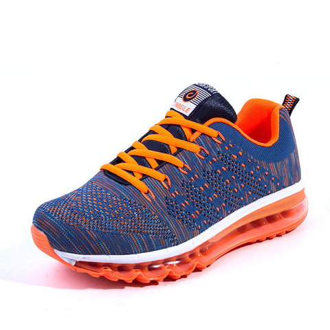 New woman and men running mesh breathable sport shoes