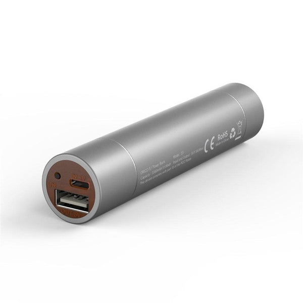 ORICO 2600mAh Premium Aluminum Ultra Slim Lipstick-Sized Portable Charger Power Bank
