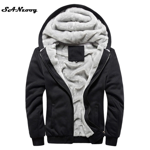 New Autumn Winter Warm Thick Solid Hoodies