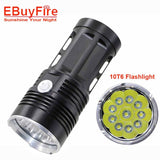 10T6 LED Flashlight KING T6 18650  flashlights waterproof rechargeable Torch Camp Lamp Light Hunting