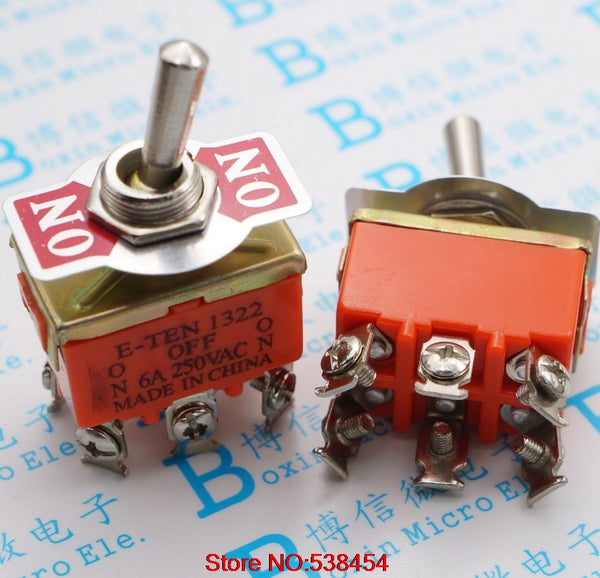 Toggle switch 6-pin 3-position switch Pole-and-double Toggle Switching power supply