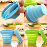 Uploadcool _ High quality silicone foldable telescopic water bottle