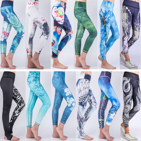 3d yoga pants sports clothing for woman