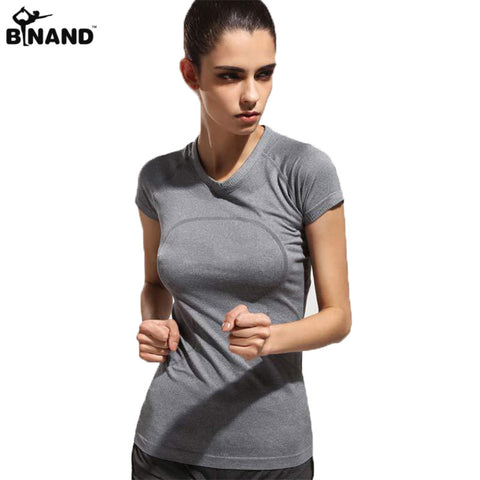 Dry Quick gym yoga short sleeve t-shirt For fitness of women